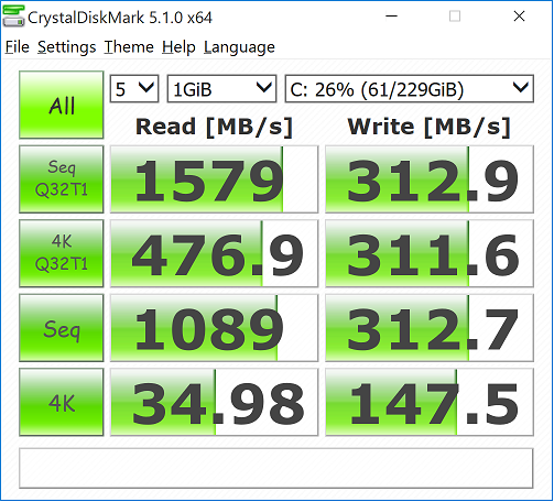 xps13 crystaldisk